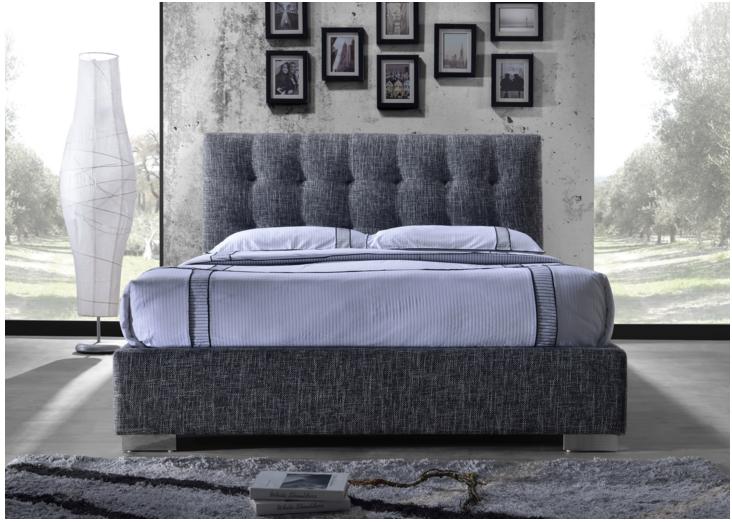 d79a046639be8 Manželská posteľ 160 cm - Tempo Kondela - Ragnar sivá (s roštom)