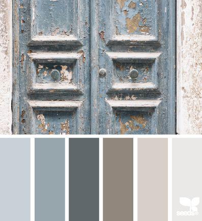farebné odtiene modrej a béžovej