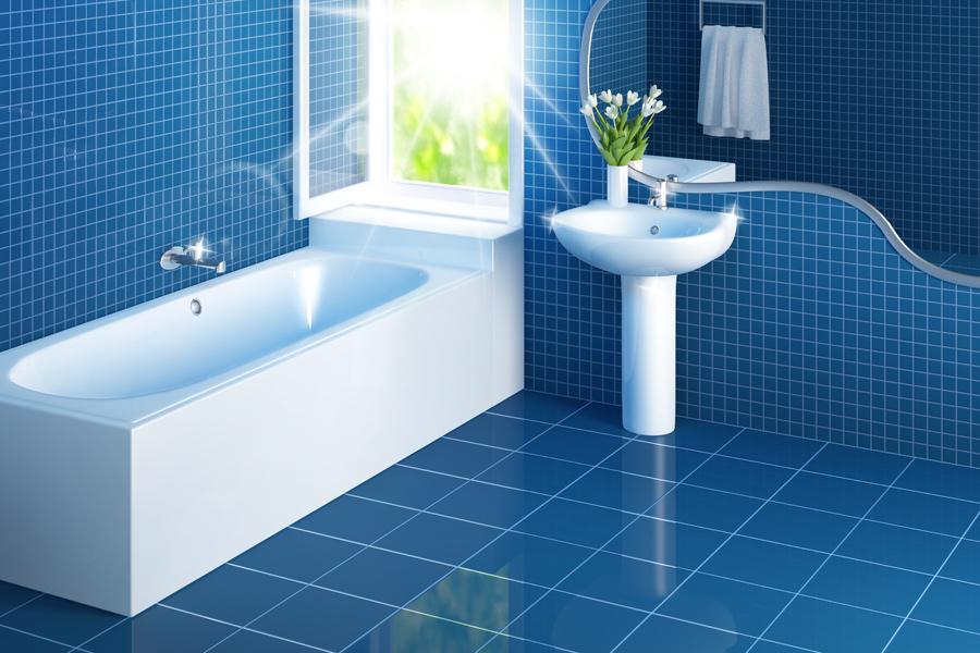 Čistá vydenzifikovaná koupelna bez plísně a bakterií