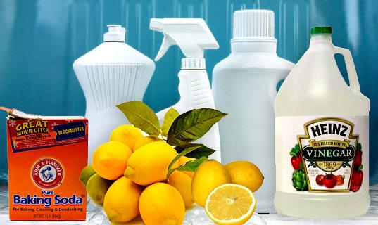 čistiace prostriedky vyrobené doma