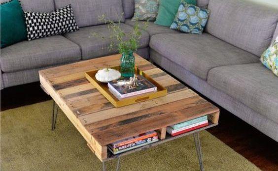 podomácky vyrobený konferenčný stolík