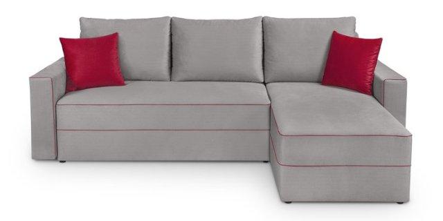 Rohová sedačka Berg Lux 3DL.URC (sivá)