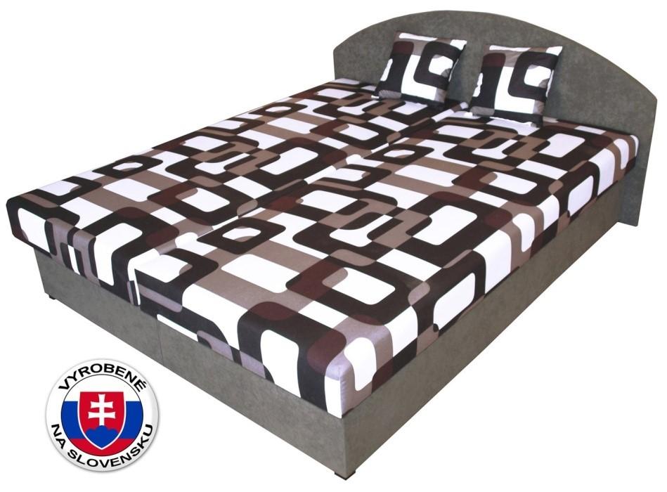 Čalúnená manželská posteľ