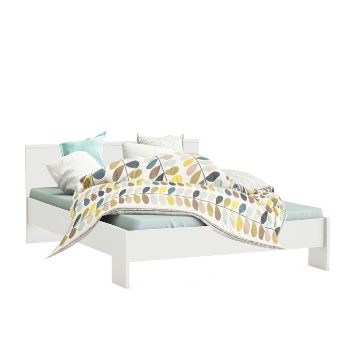 Biela posteľ Ambian