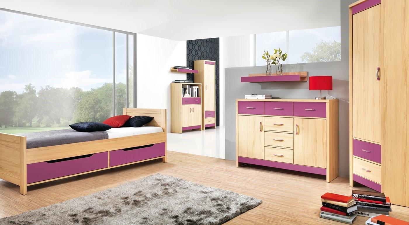 Fialová detská izba