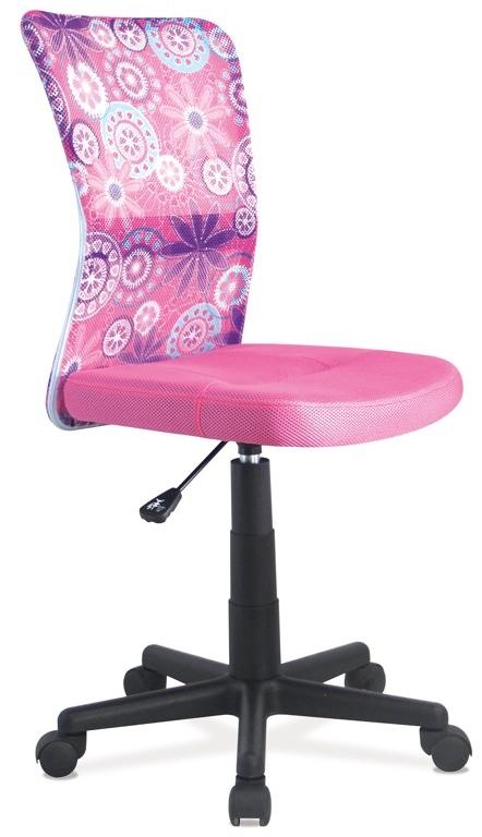 Ružová dievčenská stolička