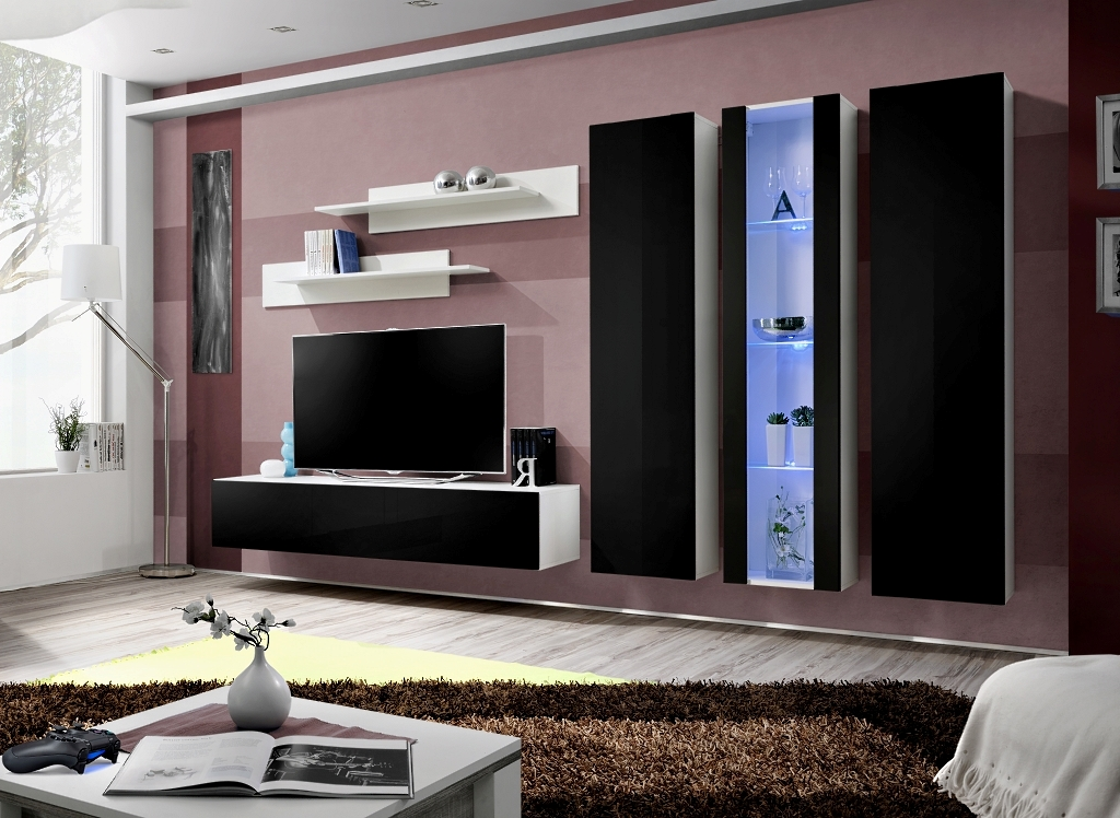 Obývacia stena - ASM - Fly - C4 WS (s osvetlením)