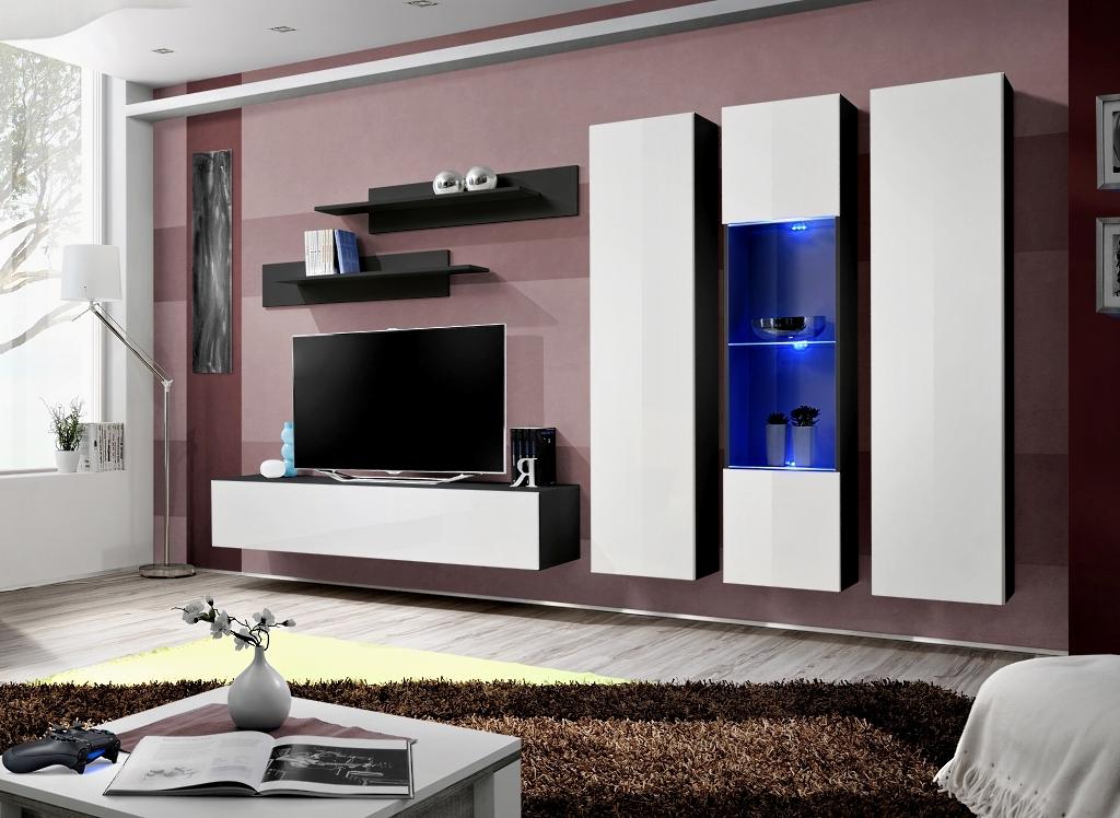 Obývacia stena - ASM - Fly - C5 ZW (s osvetlením)