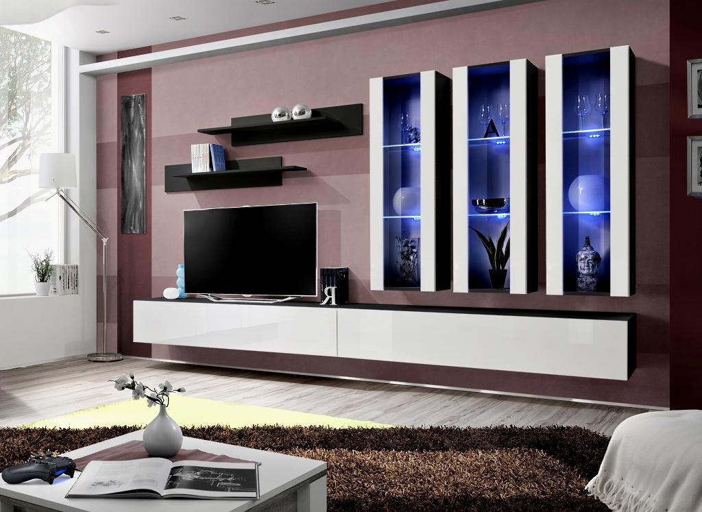 Obývacia stena - ASM - Fly - E3 ZW (s osvetlením)