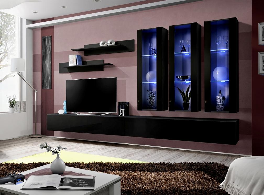 Obývacia stena - ASM - Fly - E3 ZZ (s osvetlením)