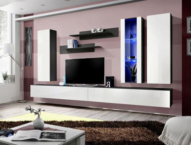 Obývacia stena - ASM - Fly - E4 ZW (s osvetlením)