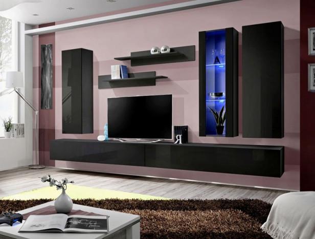 Obývacia stena - ASM - Fly - E4 ZZ (s osvetlením)