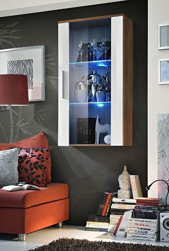 Vitrína na stenu Neo 23 NWH N2 (s osvetlením)
