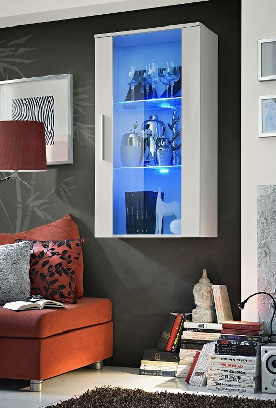 Vitrína na stenu - ASM - Neo II - WW (s osvetlením)