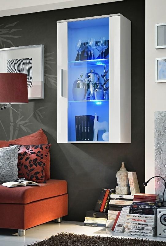 Vitrína na stenu - ASM - Neo II - WWH (s osvetlením)