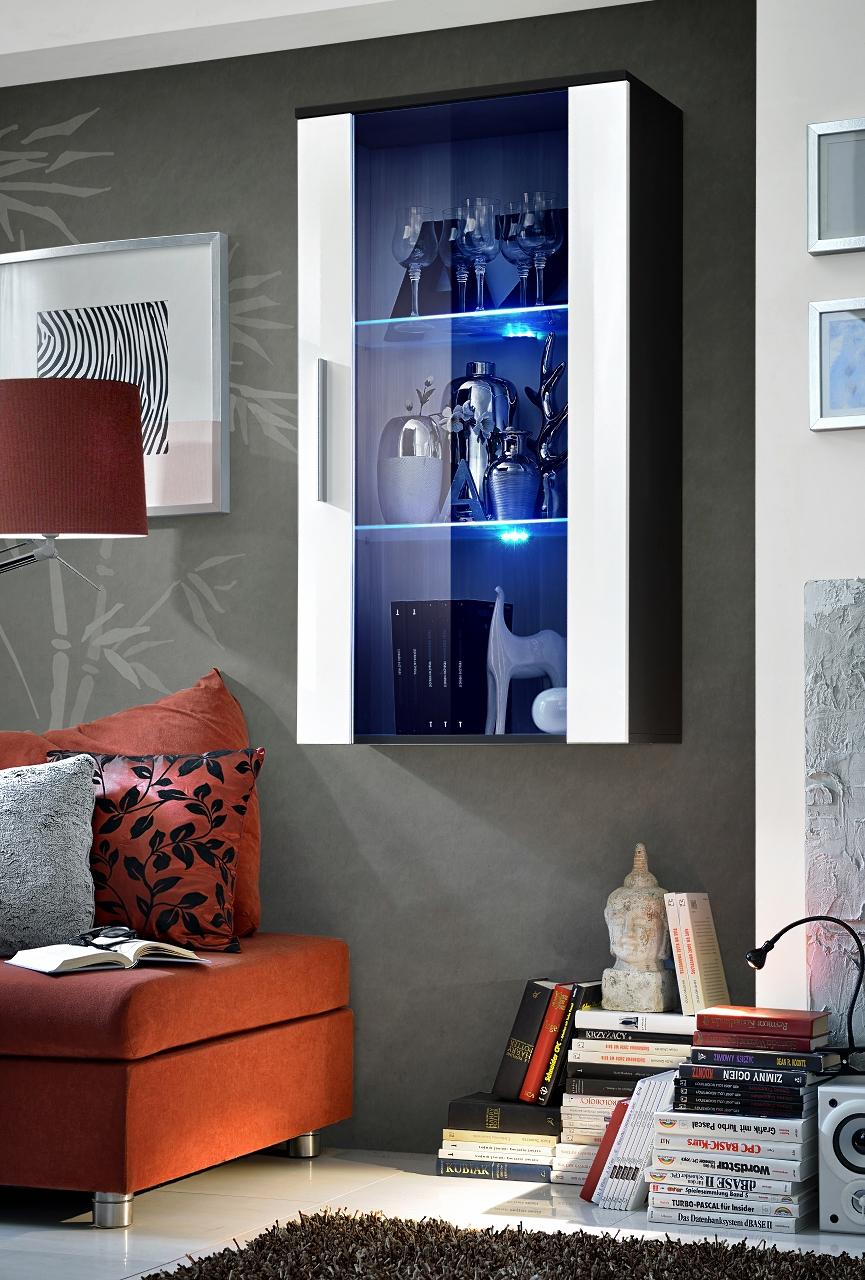 Vitrína na stenu - ASM - Neo II - ZW (s osvetlením)