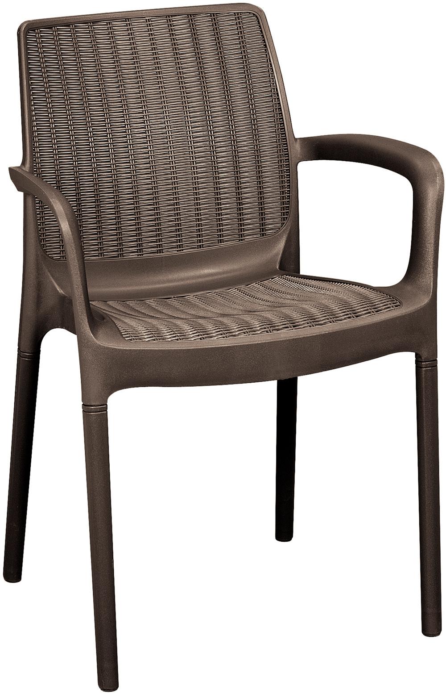 Záhradná stolička - Allibert - Bali brown