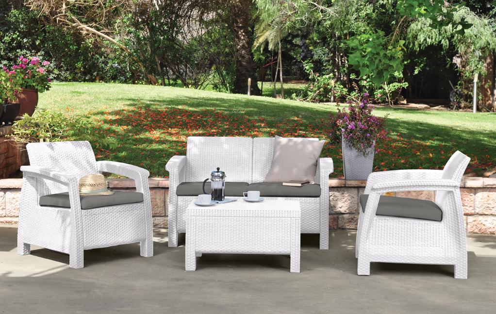 Комплект садовой мебели yalta triple set (4 места) купить в .