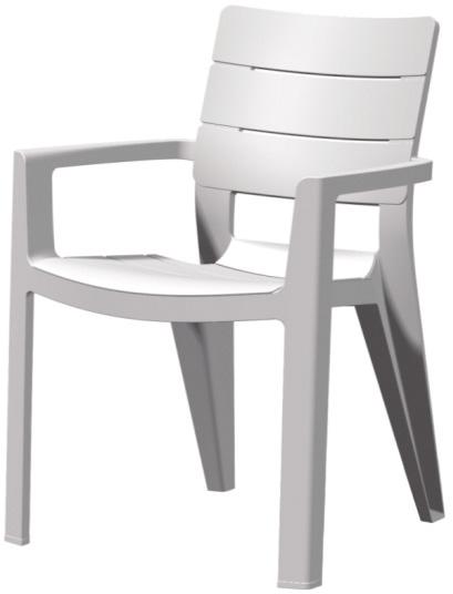 Záhradná stolička - Allibert - Ibiza white