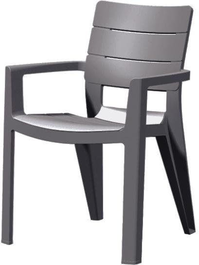 Záhradná stolička - Allibert - Ibiza antracit