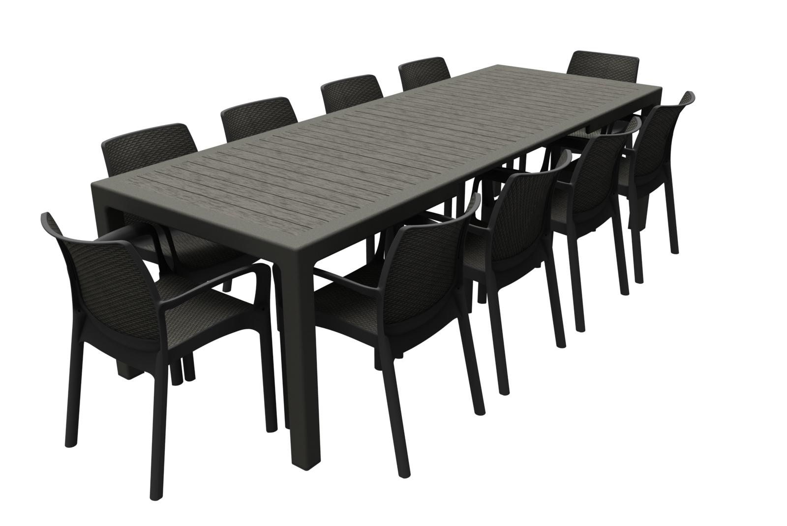 Záhradný stôl - Allibert - Sonata 2 antracit