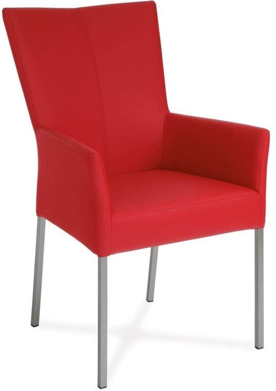 Jedálenská stolička - Artium - BE6033-ARM RED