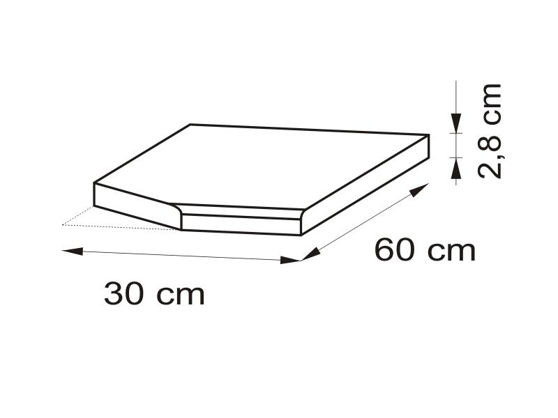 Pracovná doska 30 cm, lavá - Bog Fran - Delicja - BLAT-30 L