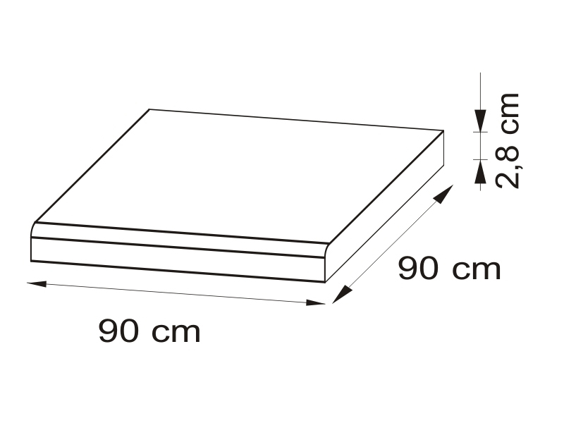 Pracovná doska 90x90 cm - Bog Fran - Delicja - BLAT-90x90