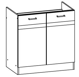 Dolná kuchynská skrinka pod drez Eliza EZ17 D80Z