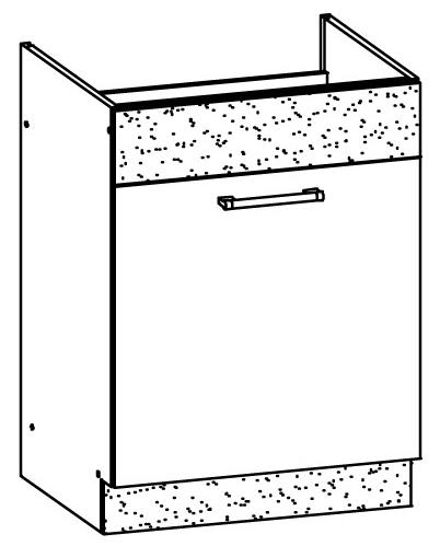 Dolná kuchynská skrinka pod drez Modena MD18 D60Z