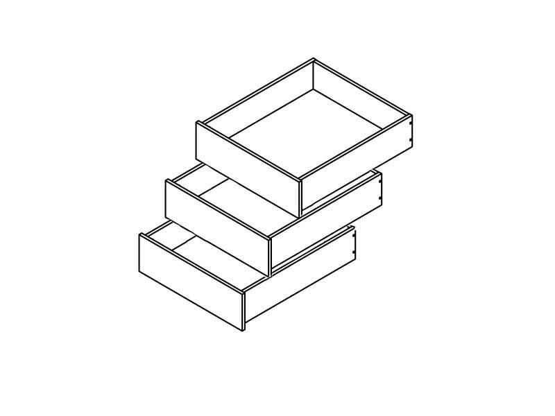 Zásuvky do skrine - BRW - Colin (3 ks.)