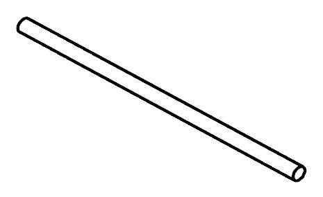 Tyč do šatníkovej skrine 95 cm - BRW - Kamix - DR/95 *výpredaj