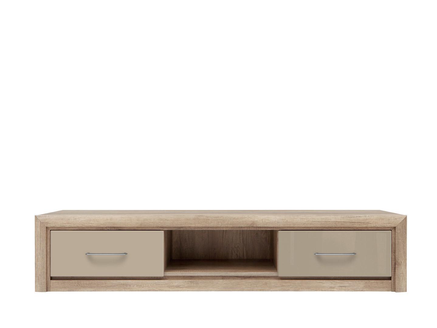 TV stolík/skrinka - BRW - Koen 2 - RTV2S/163 (dub canyon monument + sivopieskový lesk). Akcia -23%. Sme autorizovaný predajca Black Red White. Vlastná spoľahlivá doprava až k Vám domov.