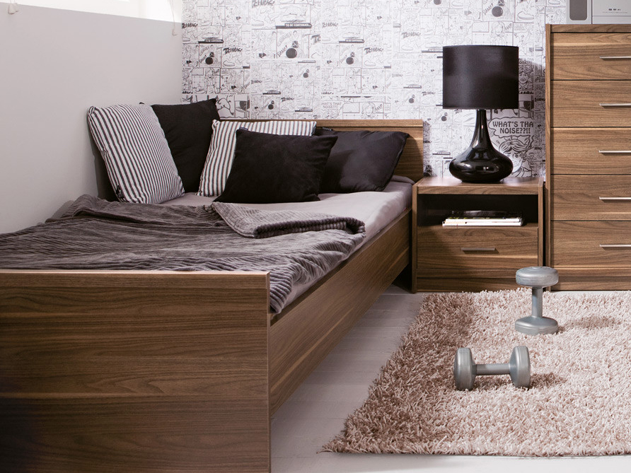 Jednolôžková posteľ 90 cm - BRW - Open - LOZ/90