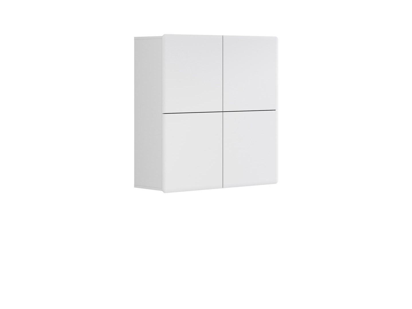 Skrinka na stenu - BRW - Possi Light - SFK4D 10/10 (biela + lesk biely). Sme autorizovaný predajca Black Red White. Vlastná spoľahlivá doprava až k Vám domov.