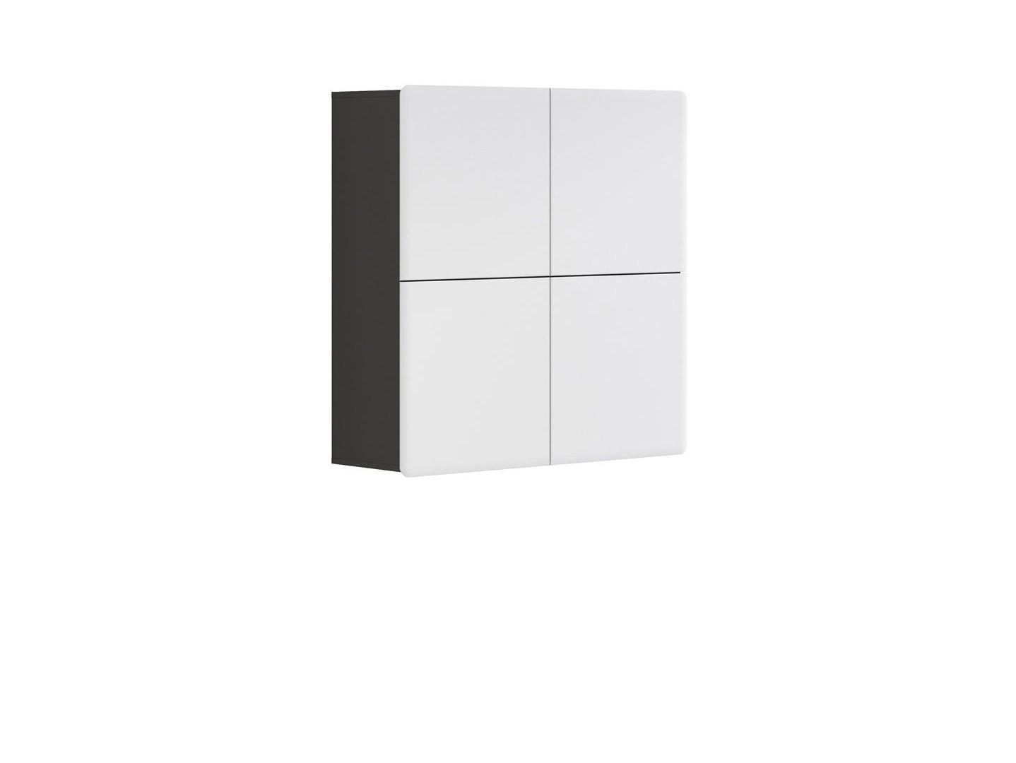 Skrinka na stenu - BRW - Possi Light - SFK4D 10/10 (sivý wolfram + lesk biely). Sme autorizovaný predajca Black Red White. Vlastná spoľahlivá doprava až k Vám domov.