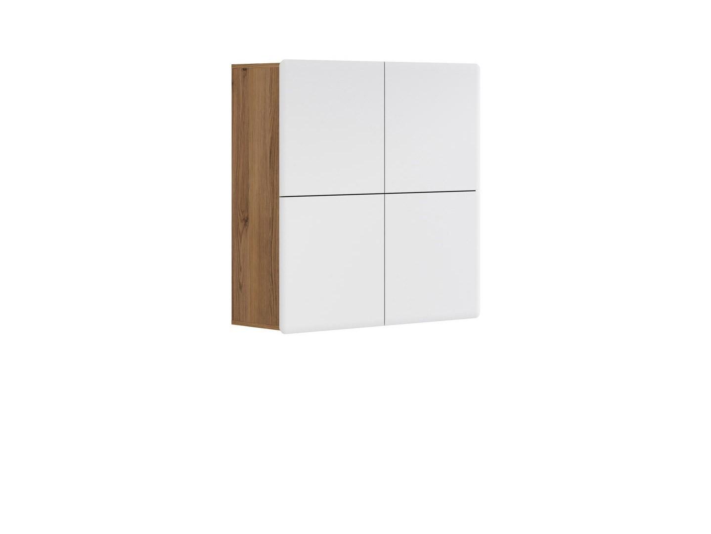 Skrinka na stenu - BRW - Possi Light - SFK4D 10/10 (smrekovec sibiu zlatý + lesk biely). Sme autorizovaný predajca Black Red White. Vlastná spoľahlivá doprava až k Vám domov.