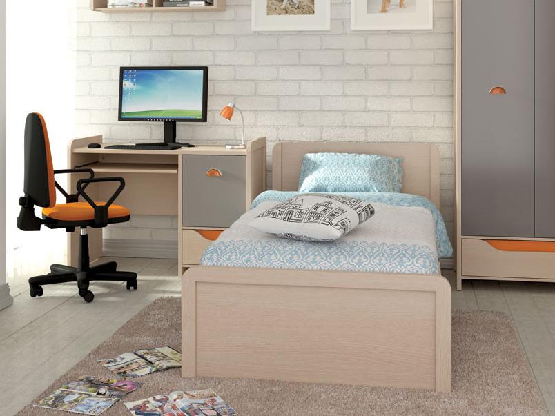 Jednolôžková posteľ 90 cm - BRW - Rupi - LOZ/90