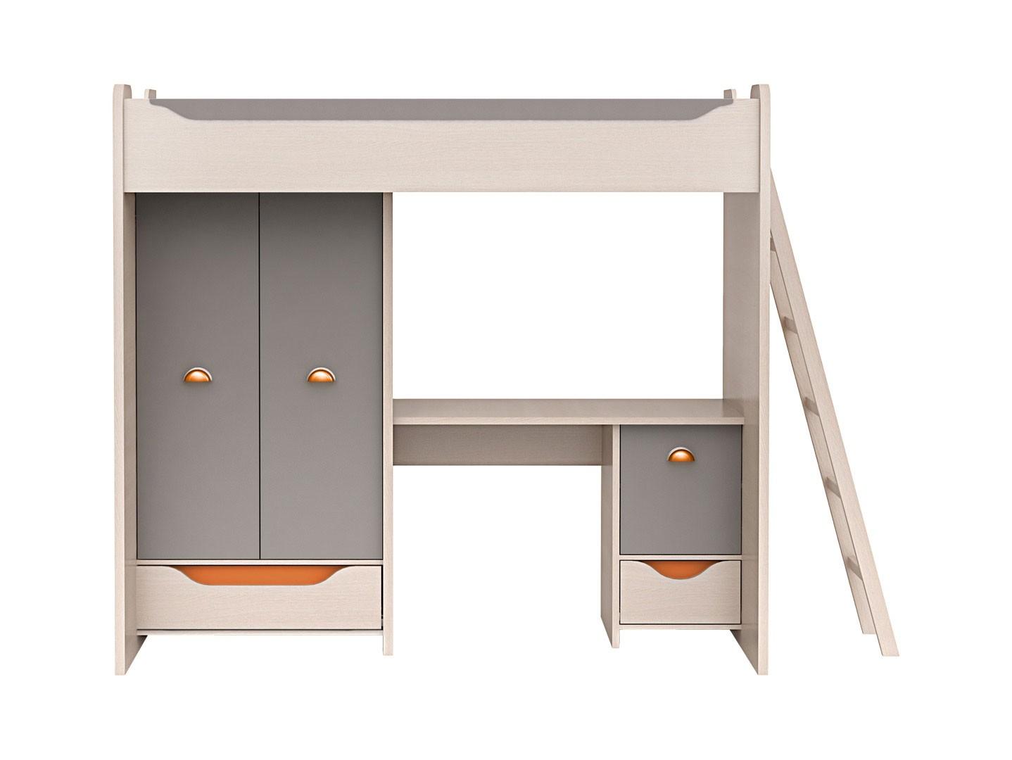 Poschodová posteľ 80 cm - BRW - Rupi - ZES3D2S (s matracom a roštom)