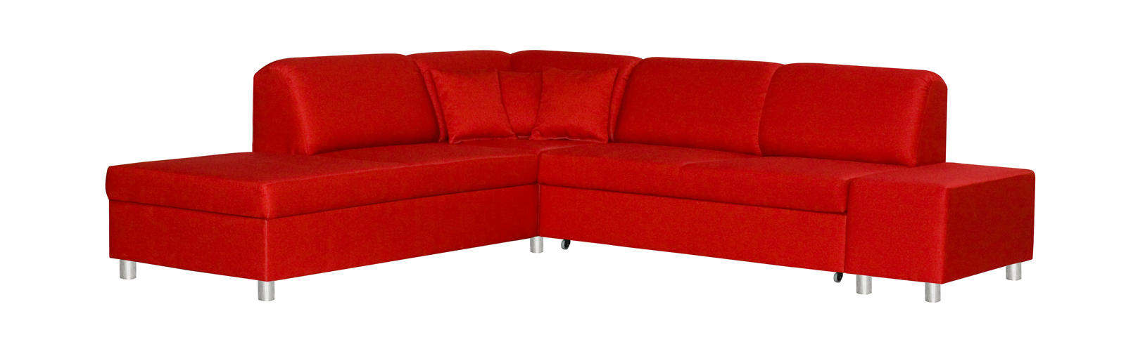 Rohová sedačka - BRW - Milano REC.E.2F červená (L)