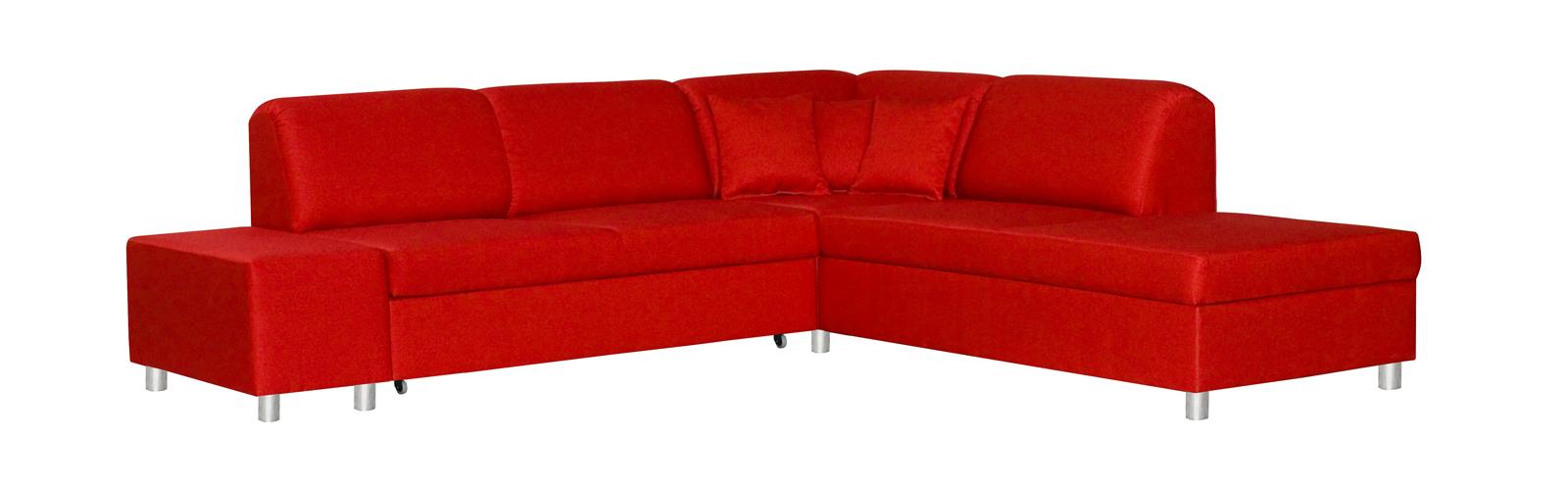 Rohová sedačka - BRW - Milano 2F.E.REC červená (P)