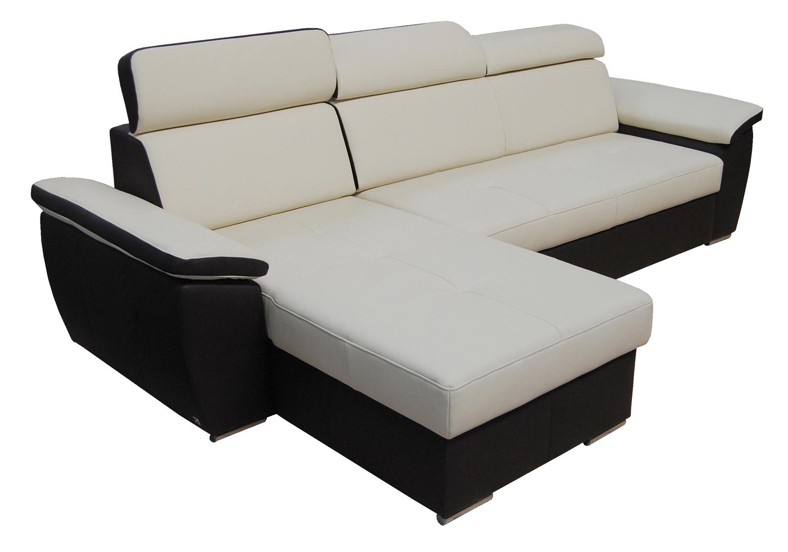 Kožená rohová sedačka - BRW - FX 15 B8 béžovohnedá (L)