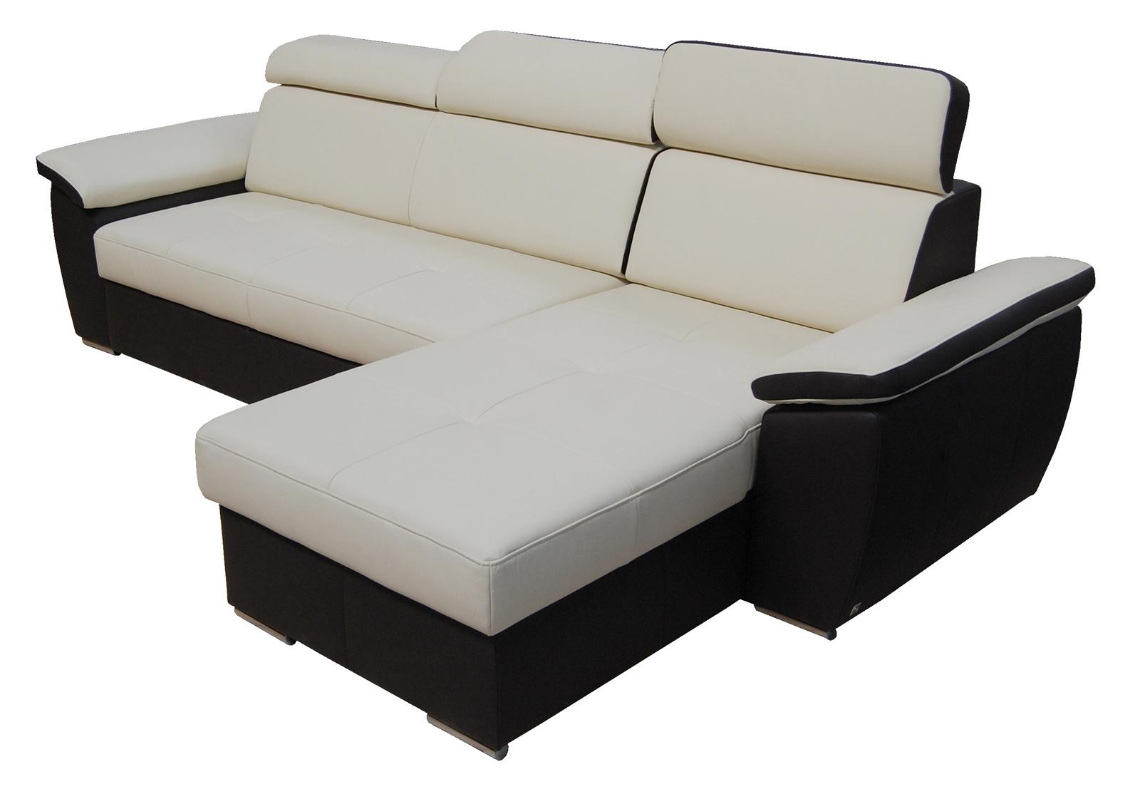 Kožená rohová sedačka - BRW - FX 15 B8 béžovohnedá (P)