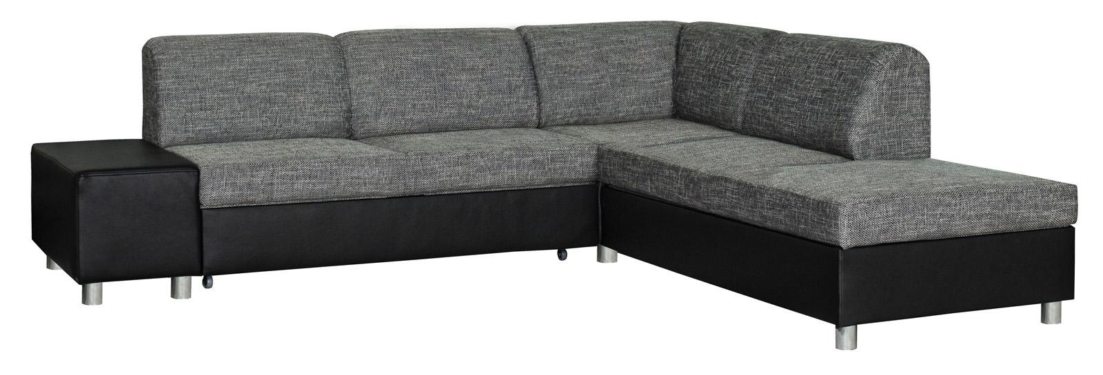 Rohová sedačka - BRW - MILANO 2F.E.REC šedo-čierna (P)