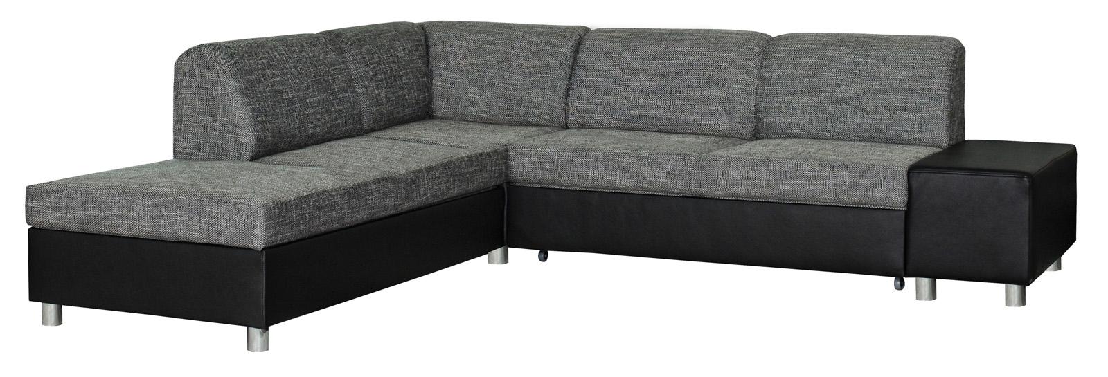 Rohová sedačka - BRW - MILANO REC.E.2F šedo-čierna (L)
