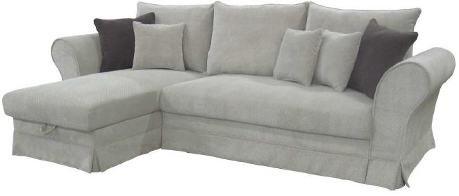 Rohová sedačka - BRW - Margaret Lux šedá (L)