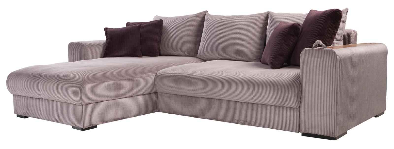Rohová sedačka - BRW - Peter Mega Lux 3DL.URCBK šedá (L)