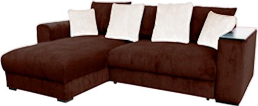 Rohová sedačka - BRW - Peter Mega Lux 3DL.URCBK hnedá (L)