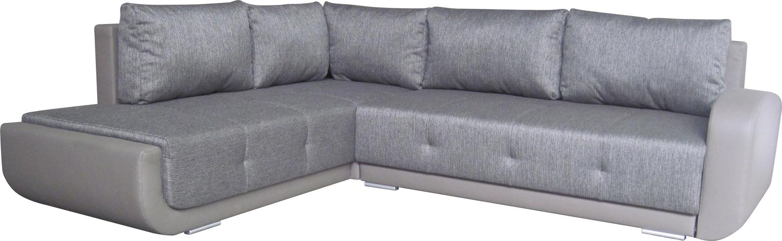 Rohová sedačka - BRW - Swing Lux REC.3DL šedá (L)