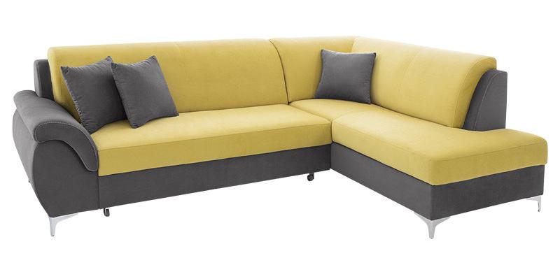 Rohová sedačka - BRW - Bruce 2F.RECBK šedá (P)